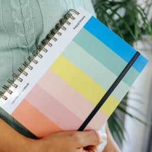 Cuaderno Anillado A5 Punteado Happimess Colorblock