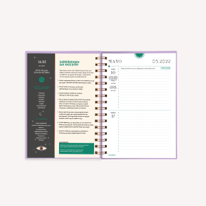 Moon Planner 2022 A5 2 days per page - Yin Yang Cristal