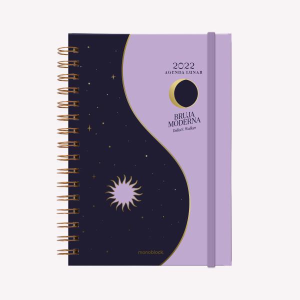 Agenda Lunar 2022 A5 Semana a la vista - Bruja Moderna - Yin Yang Oro