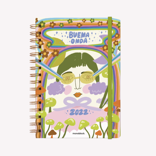 Planner 2022 A5 Weekly - Pepita Sandwich I transform into what I want