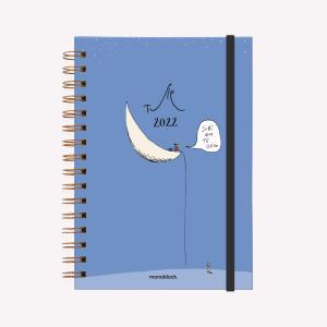 Planner 2022 A5  2 days per page - Subí que te llevo