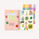 Planner 2022 A5 2 Daily - Artista del arcoíris VERDE
