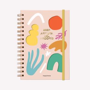 Agenda 2022 A5 Semana a la vista - Happimess - Artista del arcoíris ROSA