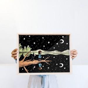 Lámina enmarcada Florero de agua y viento x FIDE - 30x40 cm
