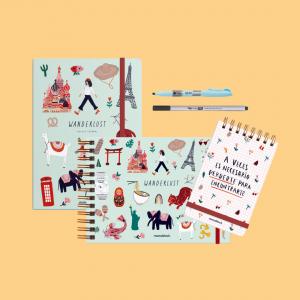 Combo Cuadernos Wanderlust