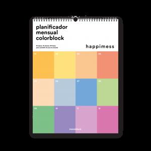 Calendario 2022 Pared - Happimess - Colorblock