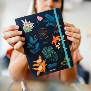 Stitched Notebook A5 Bullet Journal Dark Botanical