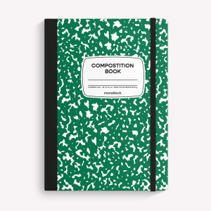 Stitched Notebook A5 Plain Compost Green