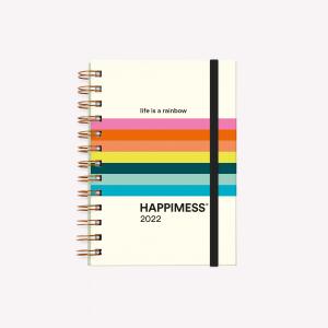 Agenda 2022 POCKET 2 días por página - Happimess - Life is a rainbow