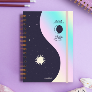 Agenda Lunar 2022 A5 2 días por página - Bruja Moderna - Yin Yang Cristal