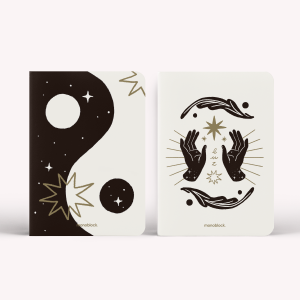 Pocket Notebook x2 yinYang by Gaches