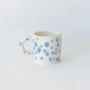 Pottery Mug JASA -  prussian blue dots