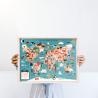 Cuadro 30x40cm x Josefina Schargorodsky - Mapa del mundo ilustrado