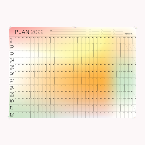 Annual Wall Planner - Gradient 70x50cm