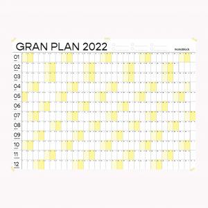 Planificador Anual 2022 Pared Amarillo