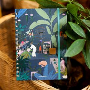 Cuaderno Anillado A5 Invernadero Compañía Botánica - Liso