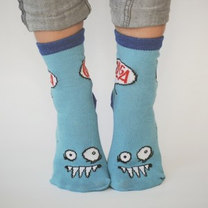 Olga Blue Cuff Kids Socks