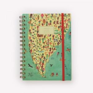 Latin America Ringed Medium Travel Journal
