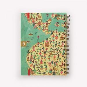 Cuaderno de Viaje Anillado Mediano America Latina