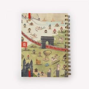 Cuaderno de Viaje Anillado Mediano Europa