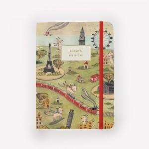 Cuaderno de Viaje Cosido Mediano Europa