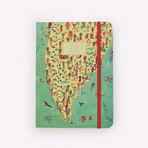 Cuaderno Cosido A5 Rayado De Viaje America Latina