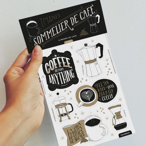 Imanes troquelados Sommelier de Cafe
