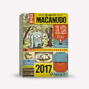 Agenda Macanudo 2017 Personajes Encuadernada