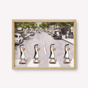 Beatles' Penguins Wall Art