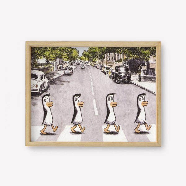 Wall Art Pingüinos Beatles