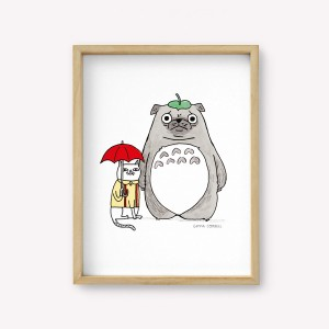 Totoro Wall Art