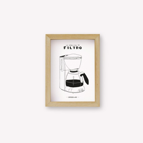 Wall Art Cafetera Máquina de Filtro