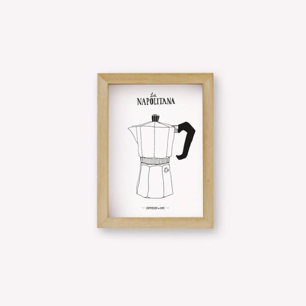 Napolitana Coffee Maker Wall Art