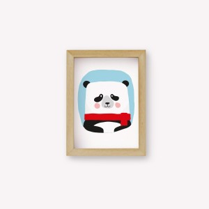 Wall Art Panda Color