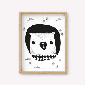 Wall Art Oso Monochrome