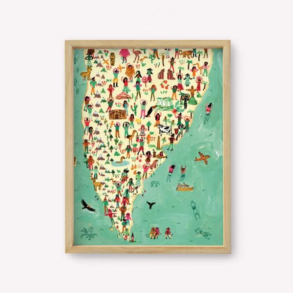 Wall Art América Latina del Sur