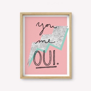 Wall Art You Me Oui