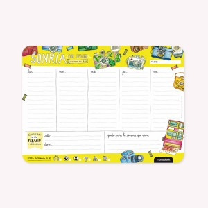 Mouse-pad Weekly Planner Smile Please