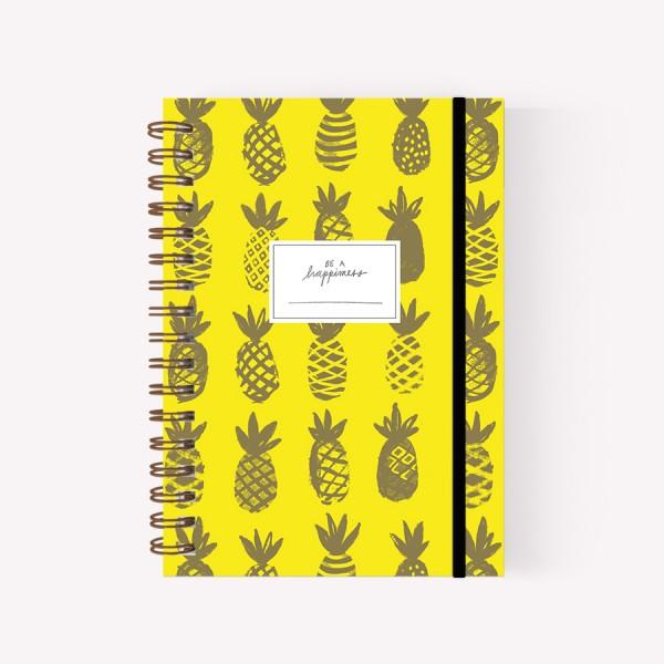 Cuaderno Anillado Mediano Happimess Ananá