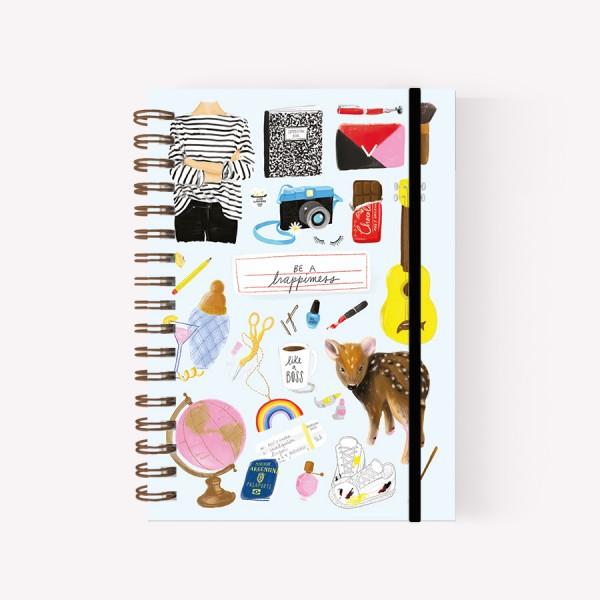 Cuaderno Anillado Mediano Happimess Dibujos