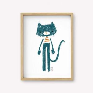 Mei the cat Wall Art