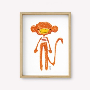 Jacques The Monkey Wall Art