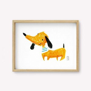Dachshund dog Roberto Wall Art