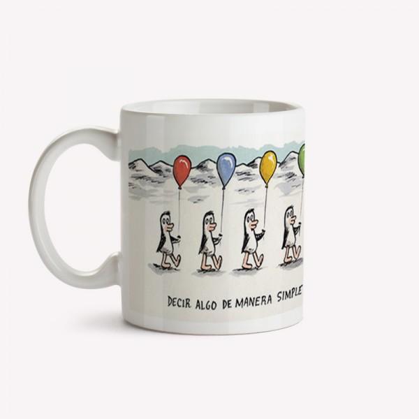 Taza Pingüinos Globos