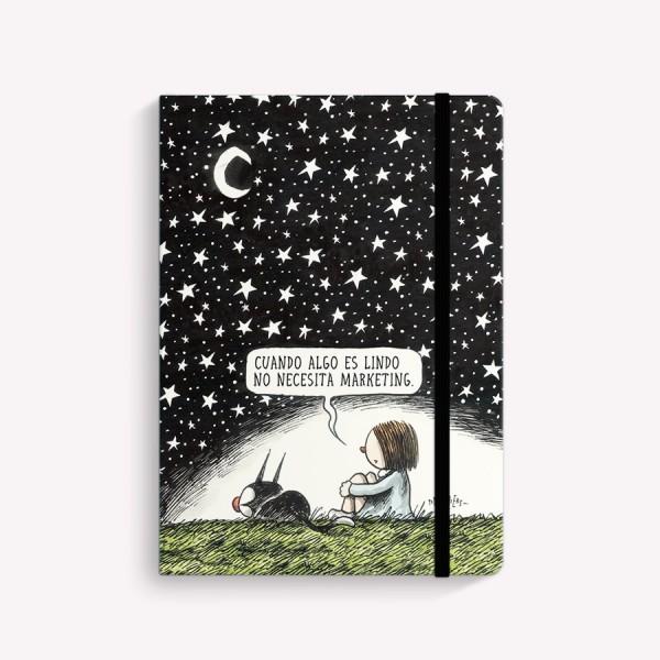 Cuaderno Cosido Mediano Noche Estrellada