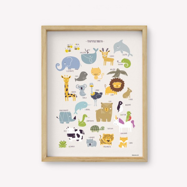 Wall Art ANIMALFABETO Color