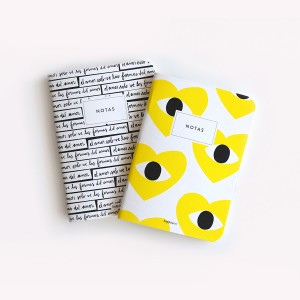 Yellow Heart Pocket Notebook Set x2