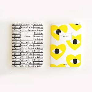 Yellow Heart Pocket Notebook Set x2