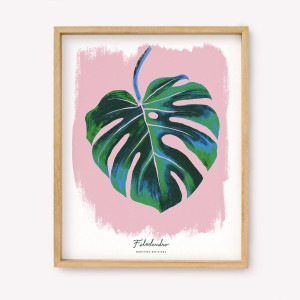 Monstera Deliciosa Silk-screen