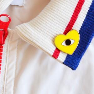 Yellow Love Vintage Badge